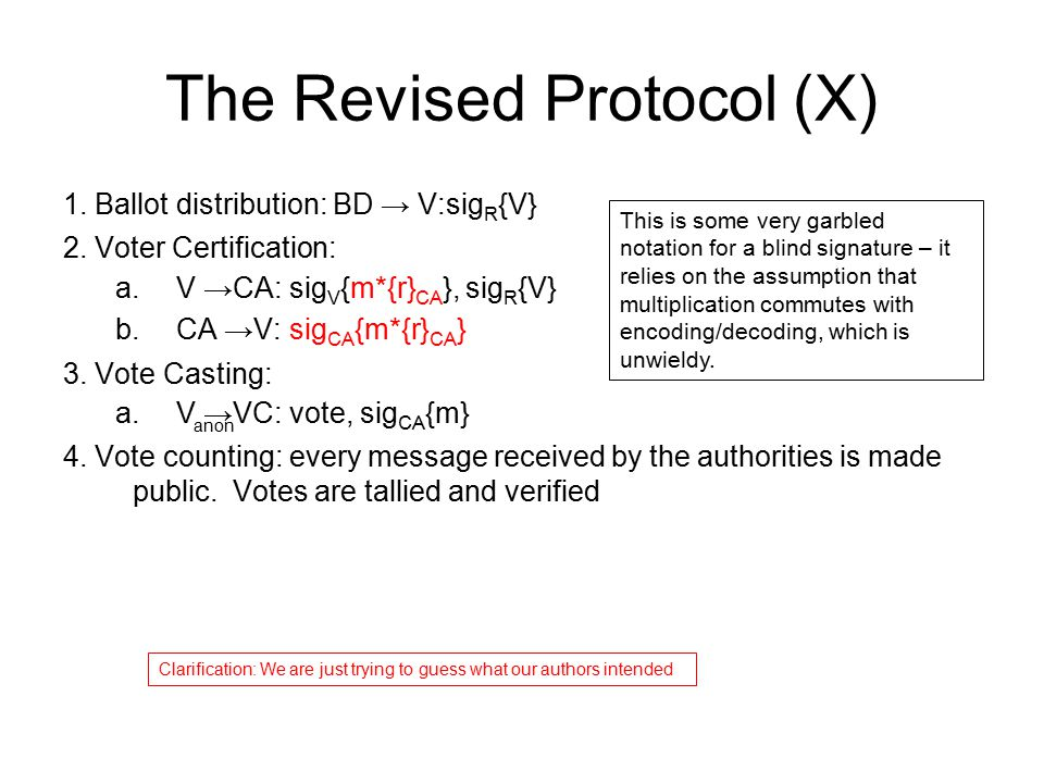 The Revised Protocol (X)