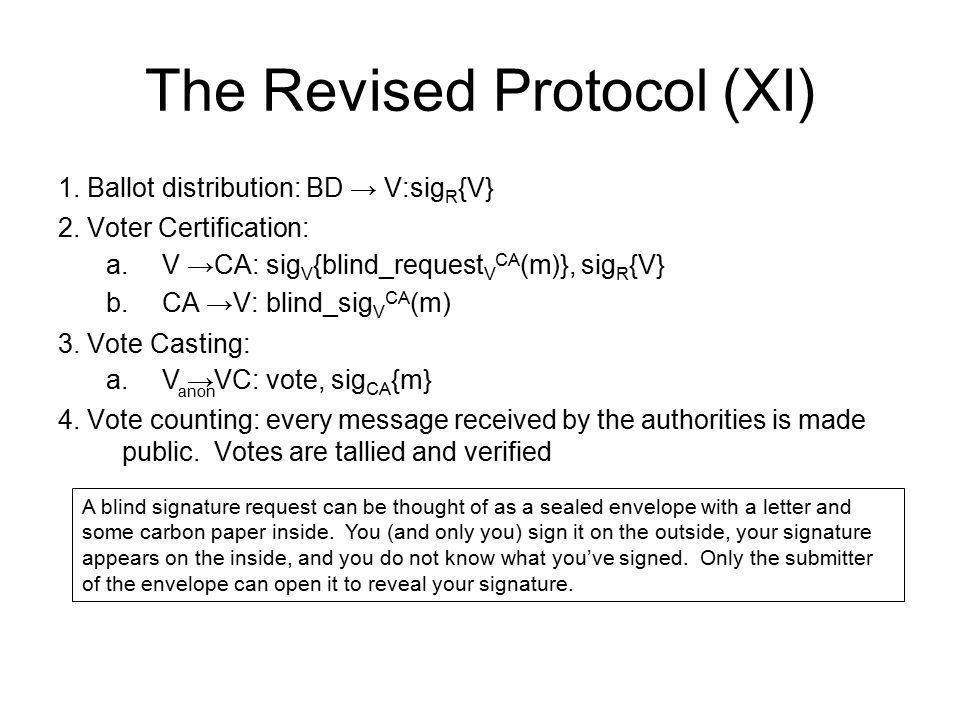 The Revised Protocol (XI)