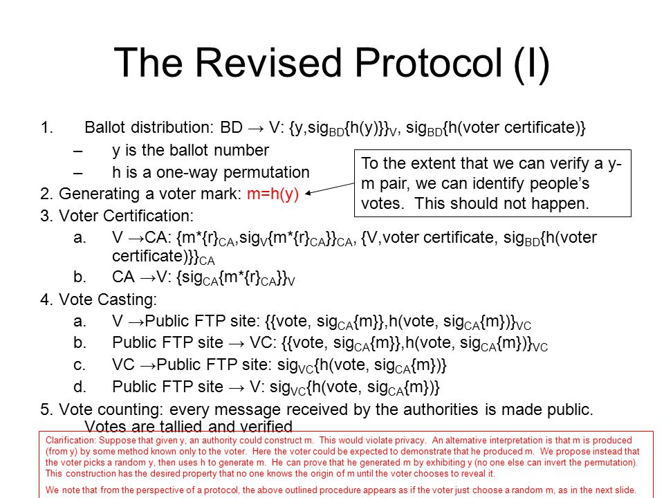 The Revised Protocol (I)