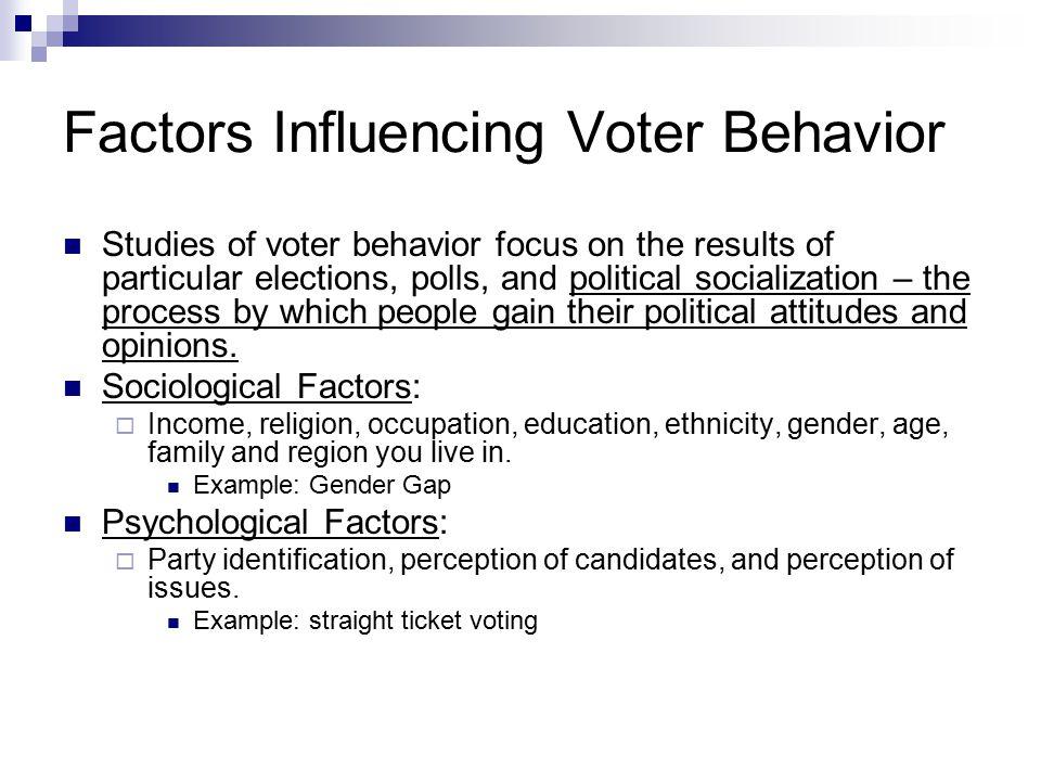 Factors Influencing Voter Behavior