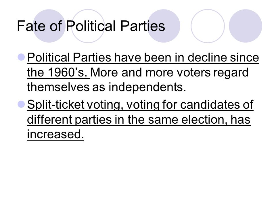 Fate of Political Parties