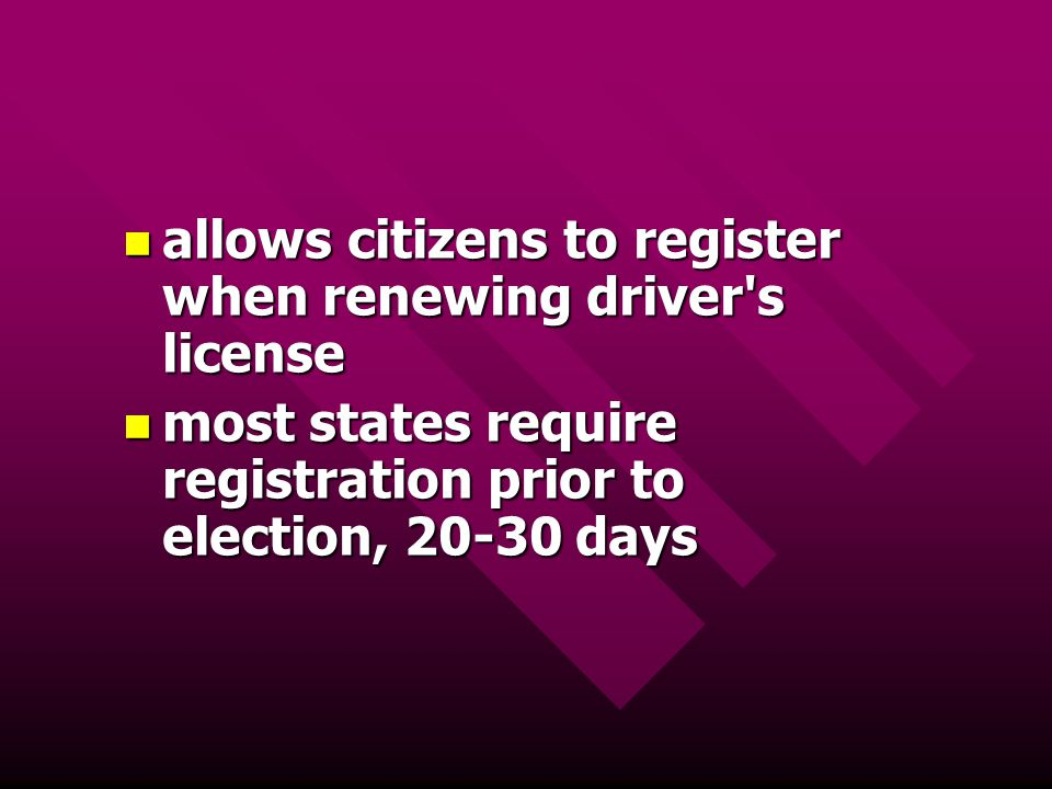 allows citizens to register when renewing driver s license
