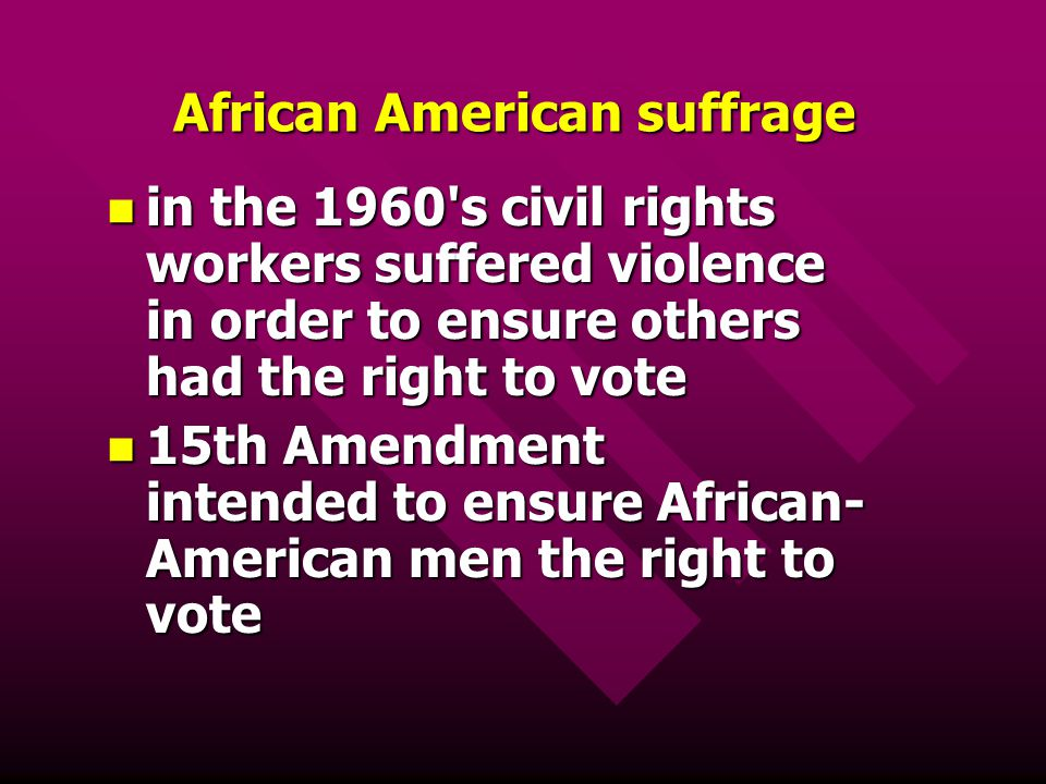 African American suffrage