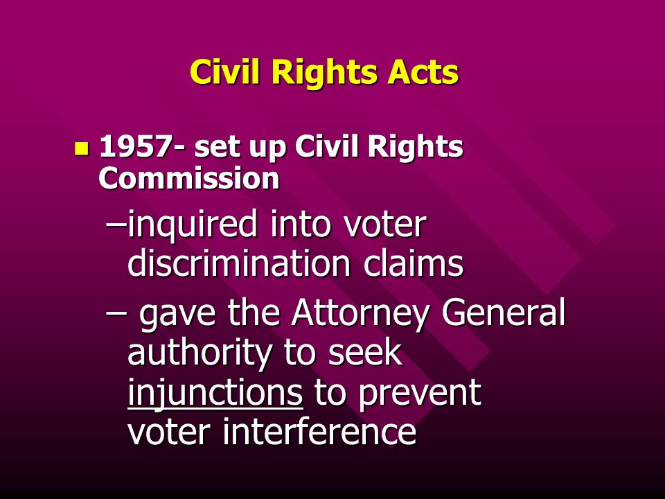 inquired into voter discrimination claims