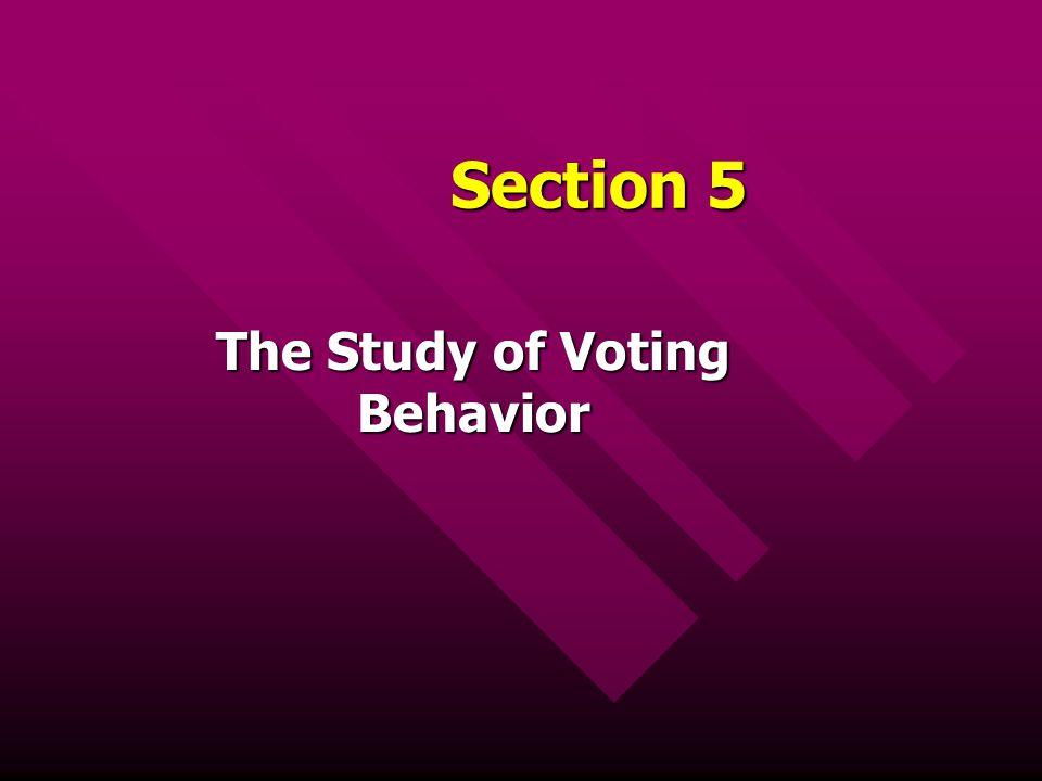 The Study of Voting Behavior