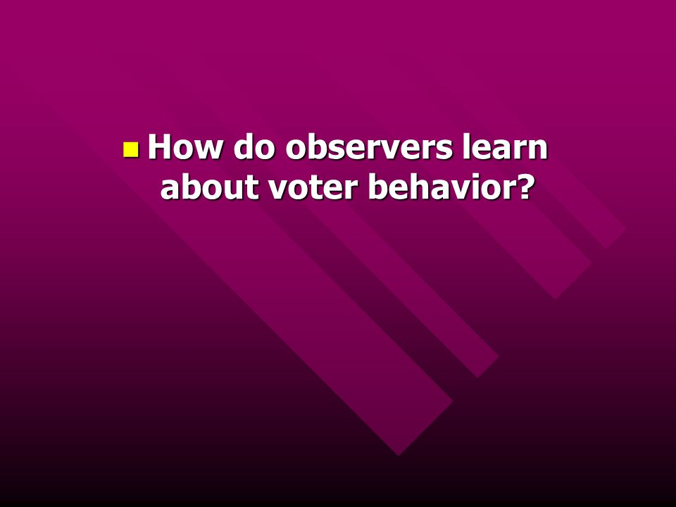 How do observers learn about voter behavior