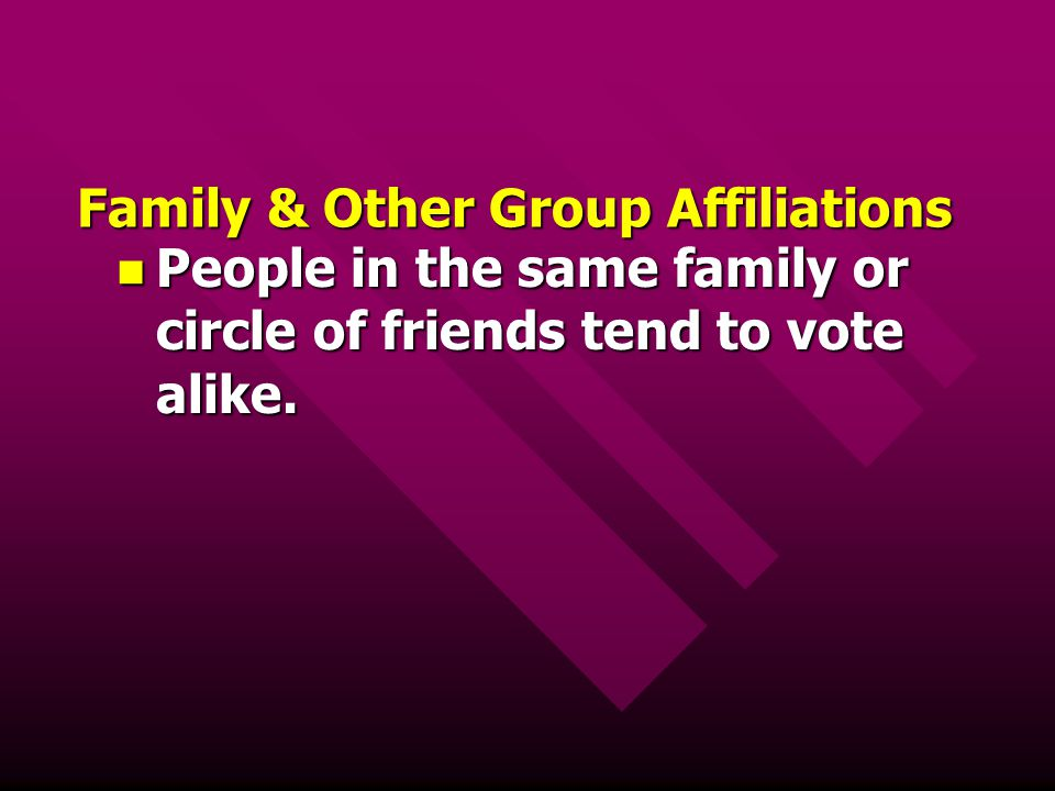 Family & Other Group Affiliations