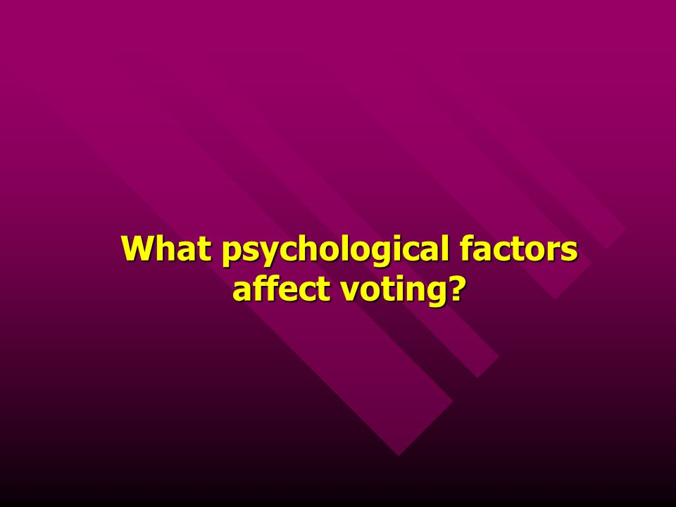 What psychological factors affect voting