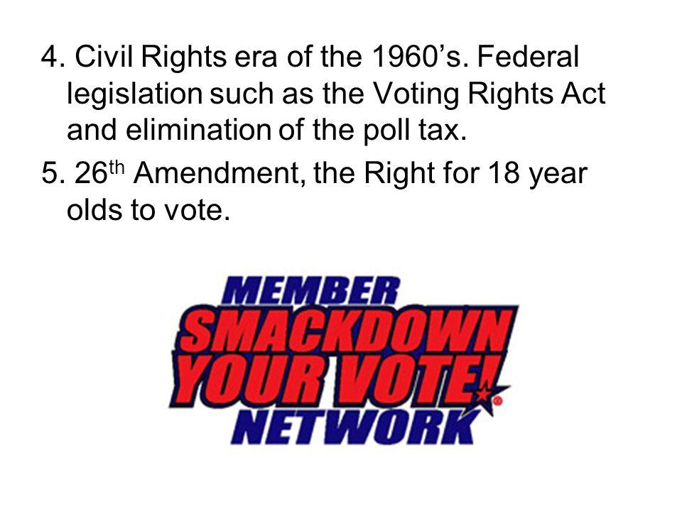 4. Civil Rights era of the 1960's