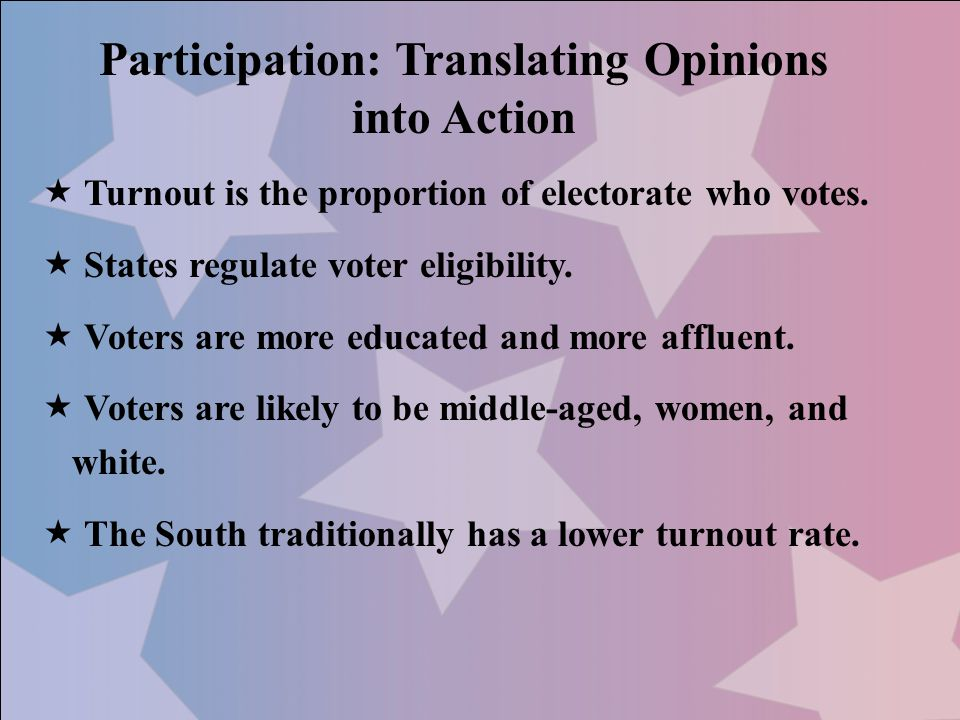 Participation: Translating Opinions into Action