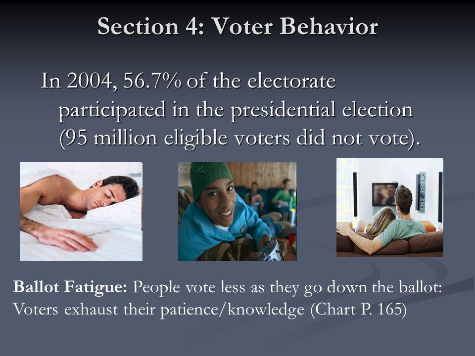 Section 4: Voter Behavior