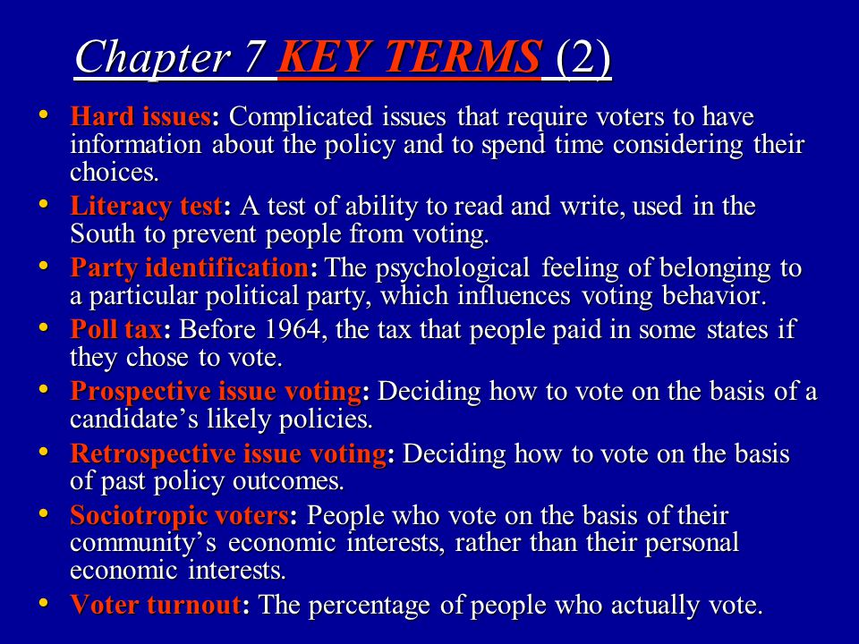 Chapter 7 KEY TERMS (2)