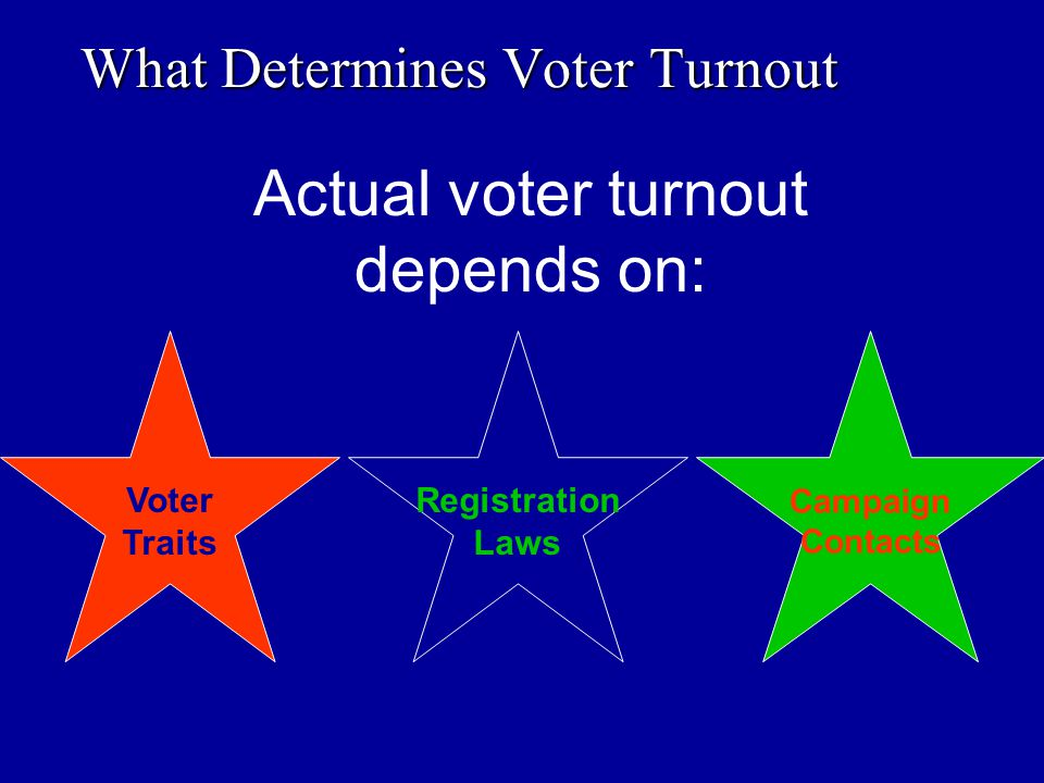 What Determines Voter Turnout