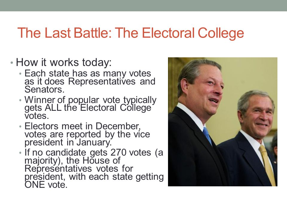 The Last Battle: The Electoral College