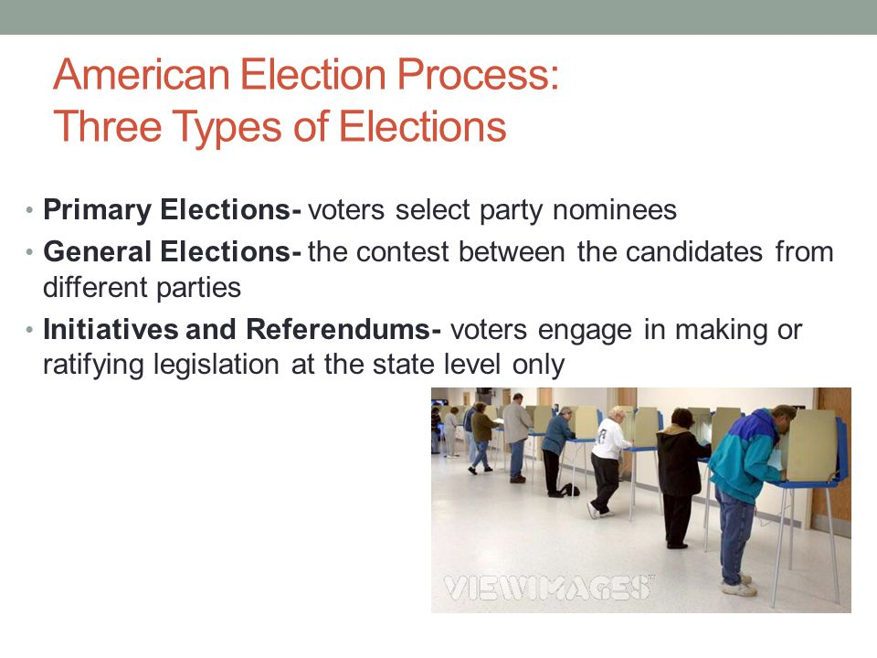 American Election Process: Three Types of Elections