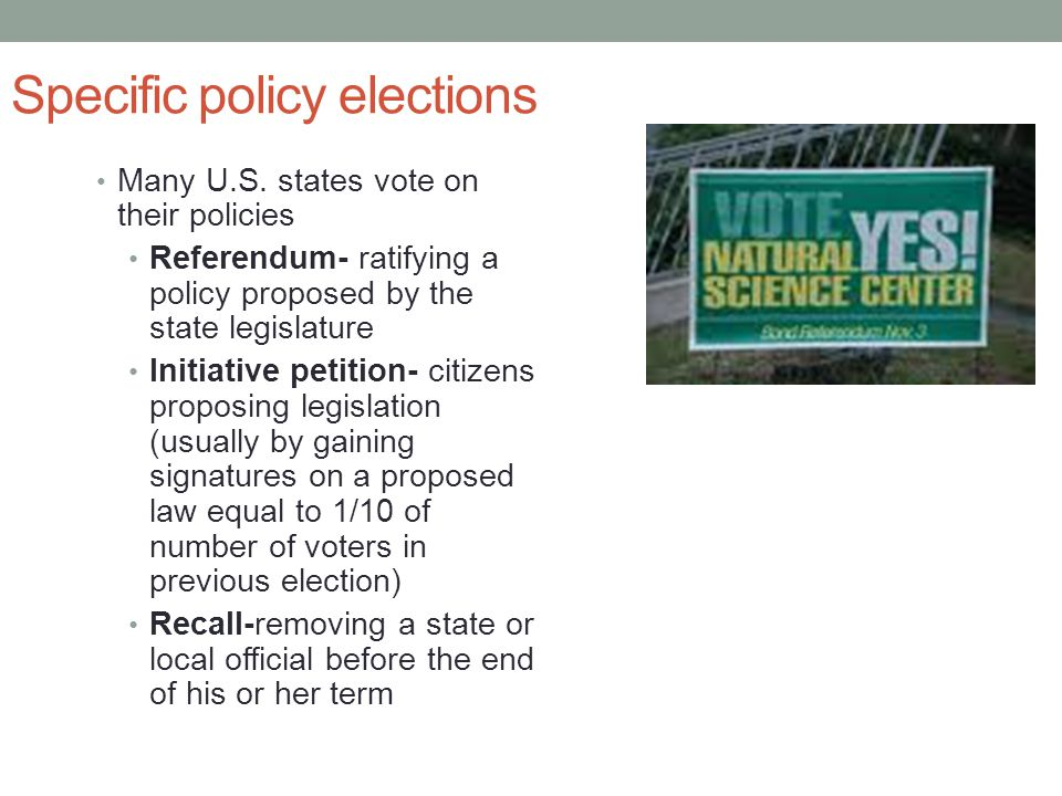 Specific policy elections