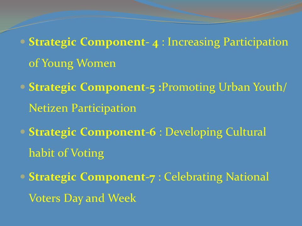 Strategic Component- 4 : Increasing Participation of Young Women