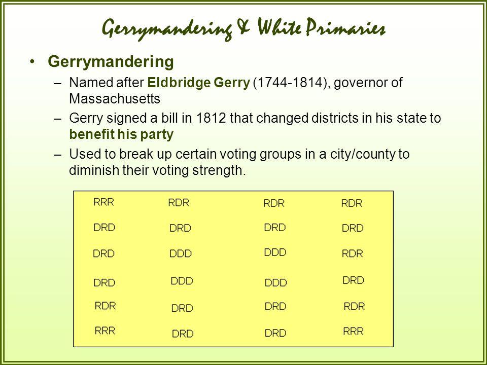 Gerrymandering & White Primaries