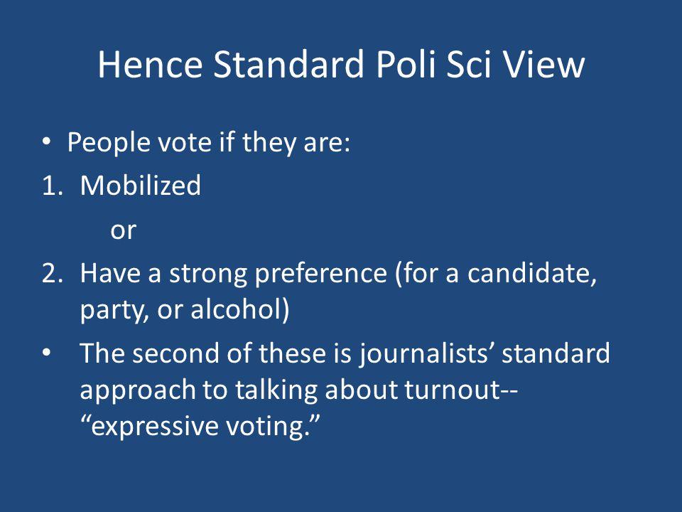 Hence Standard Poli Sci View