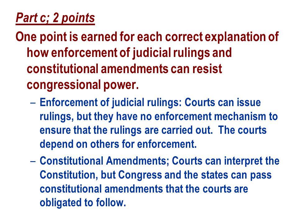 Part c; 2 points