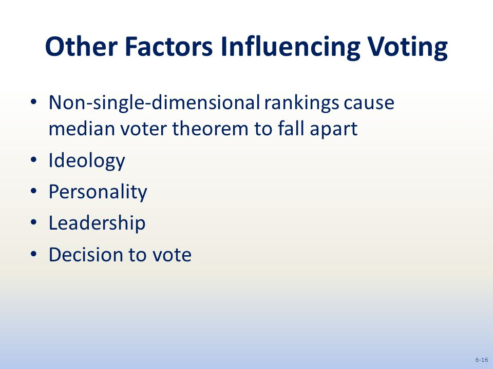 Other Factors Influencing Voting