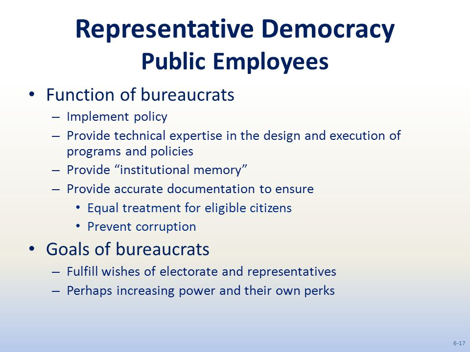 Representative Democracy Public Employees