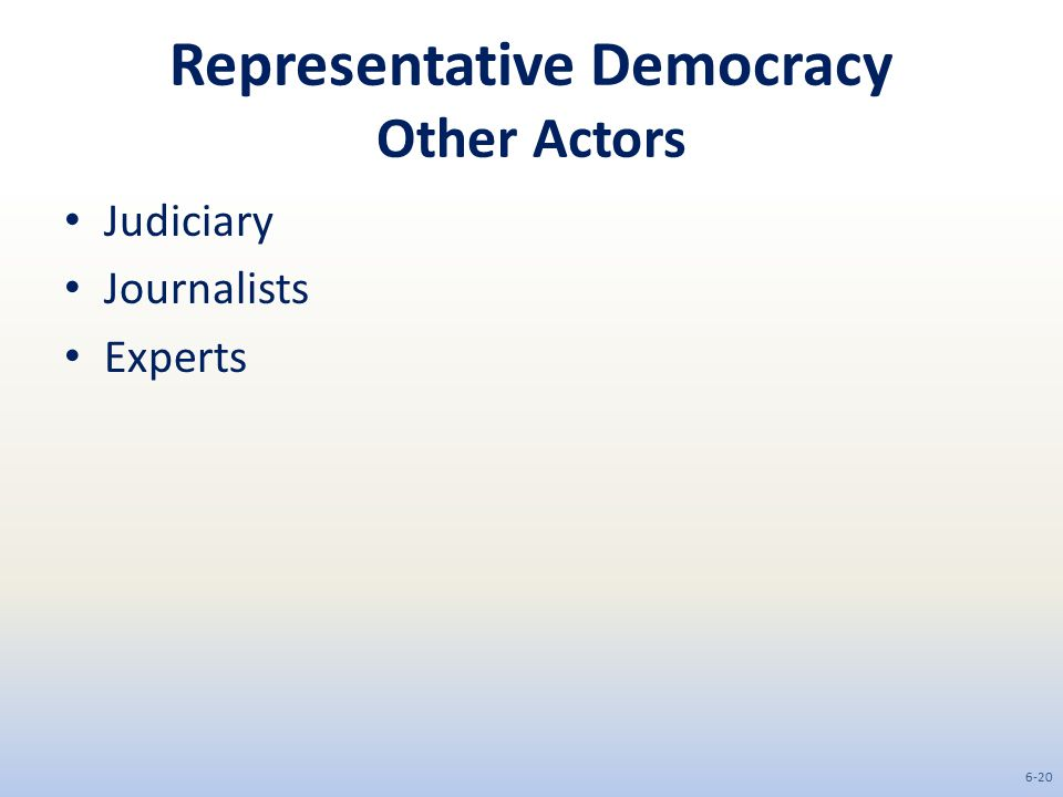 Representative Democracy Other Actors