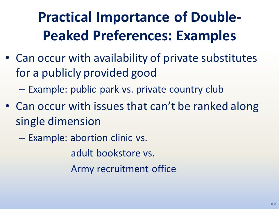 Practical Importance of Double-Peaked Preferences: Examples