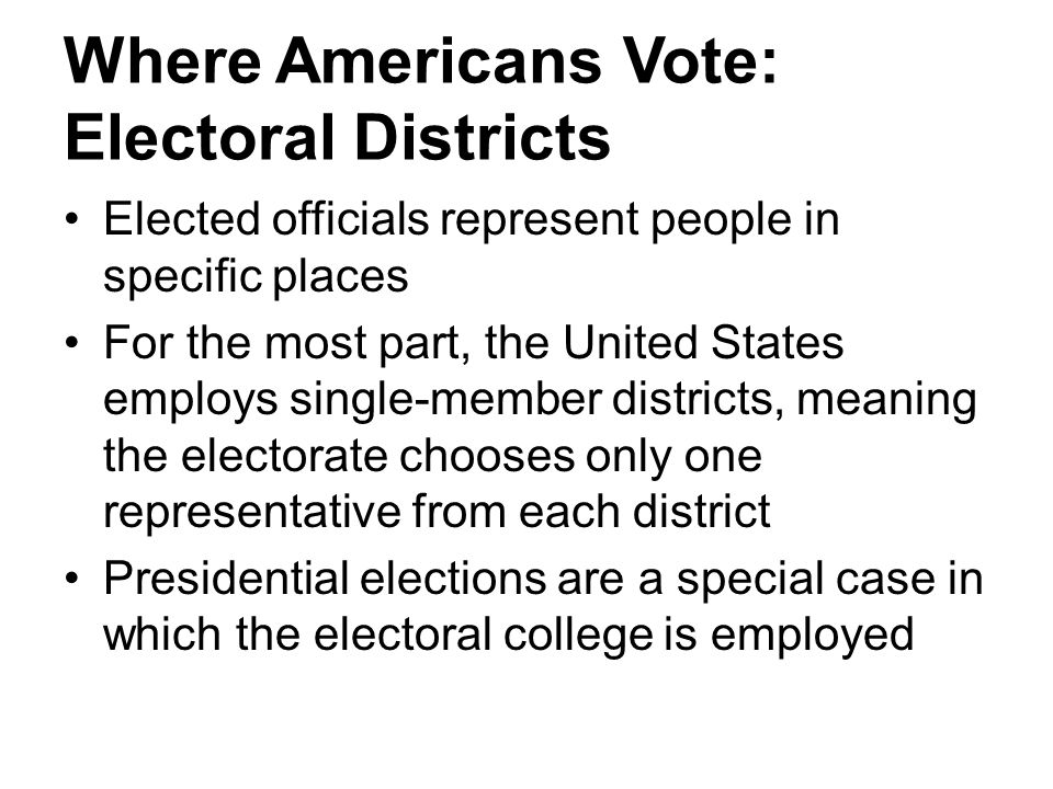 Where Americans Vote: Electoral Districts