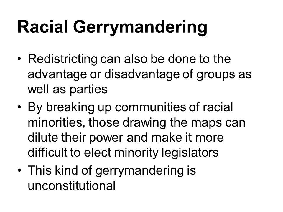 Racial Gerrymandering