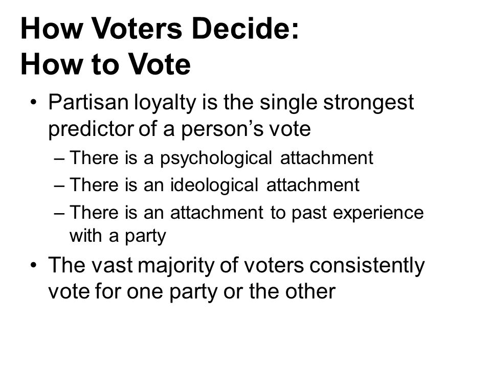 How Voters Decide: How to Vote