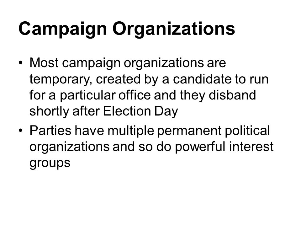 Campaign Organizations