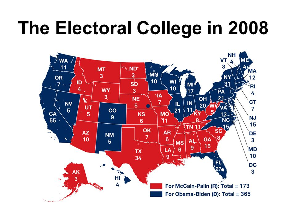 The Electoral College in 2008