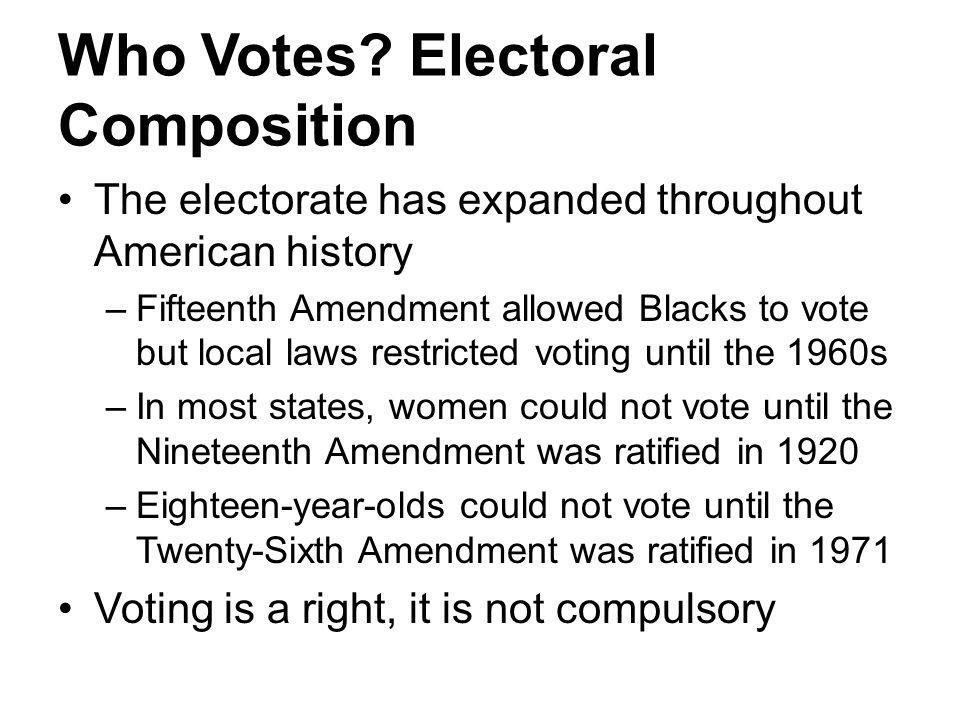 Who Votes Electoral Composition