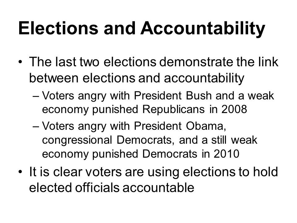 Elections and Accountability