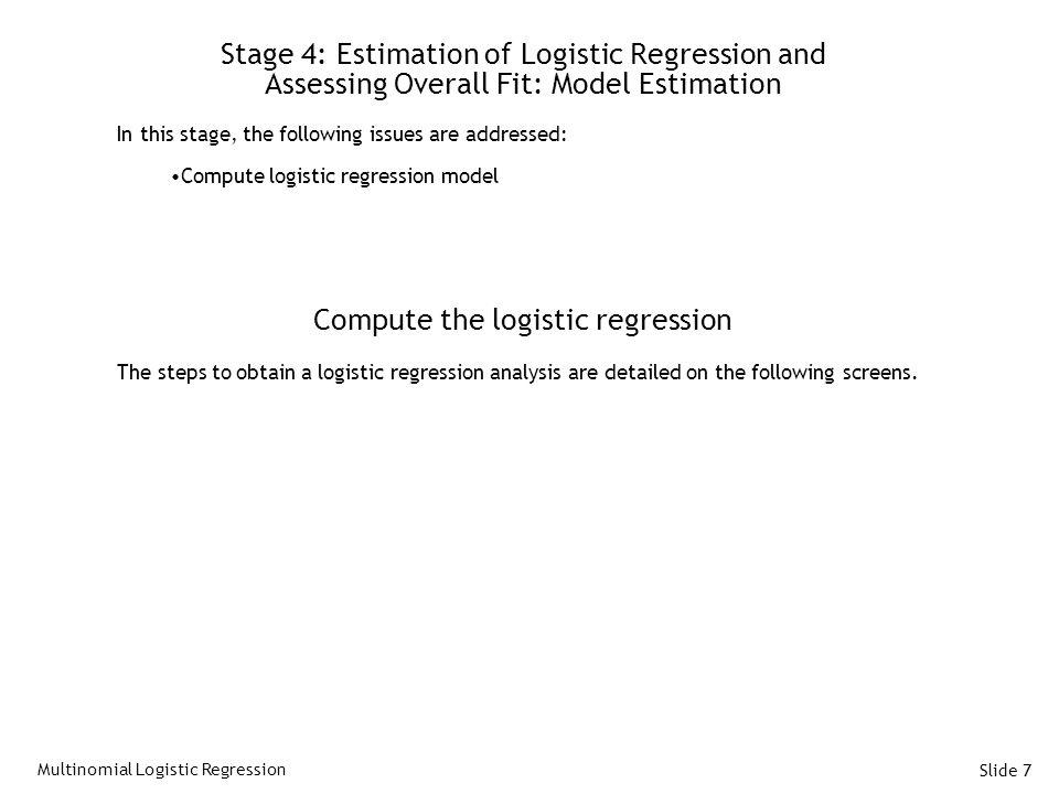 Compute the logistic regression