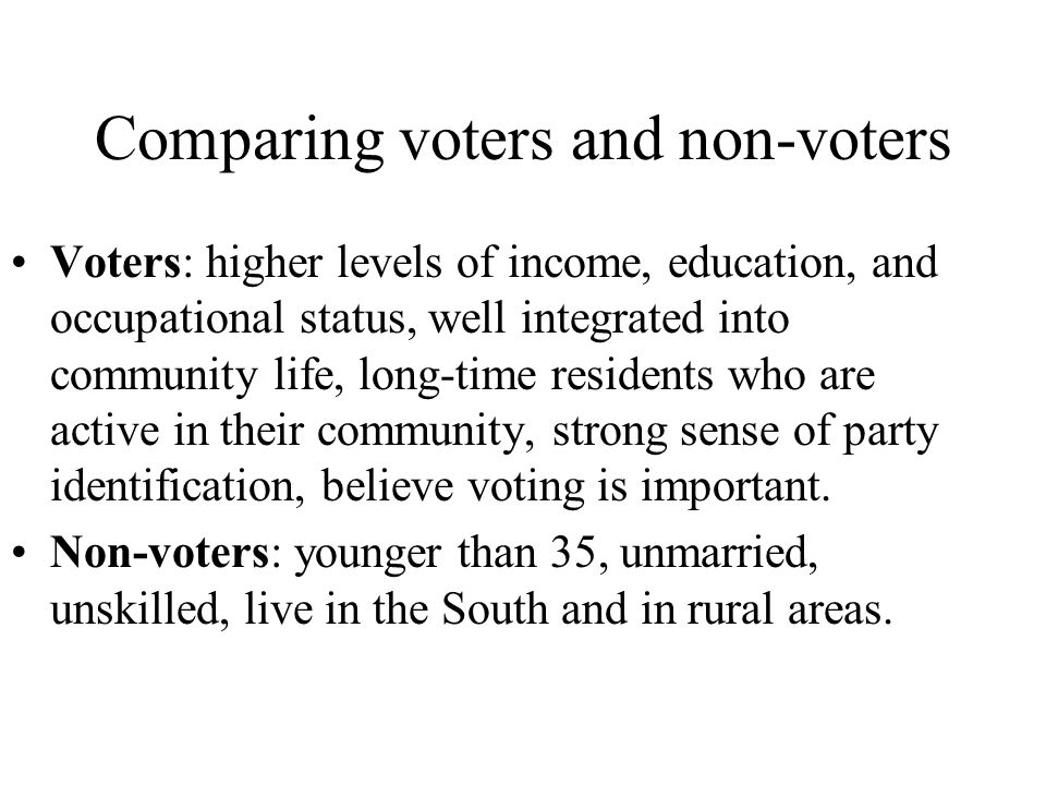 Comparing voters and non-voters