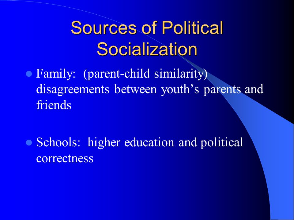 Sources of Political Socialization