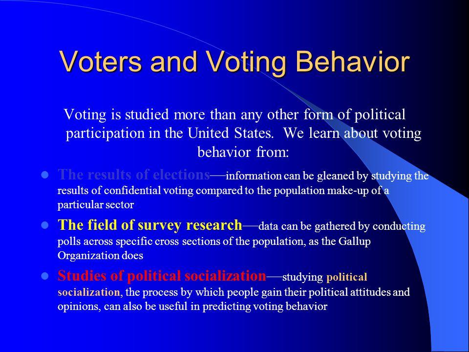 Voters and Voting Behavior