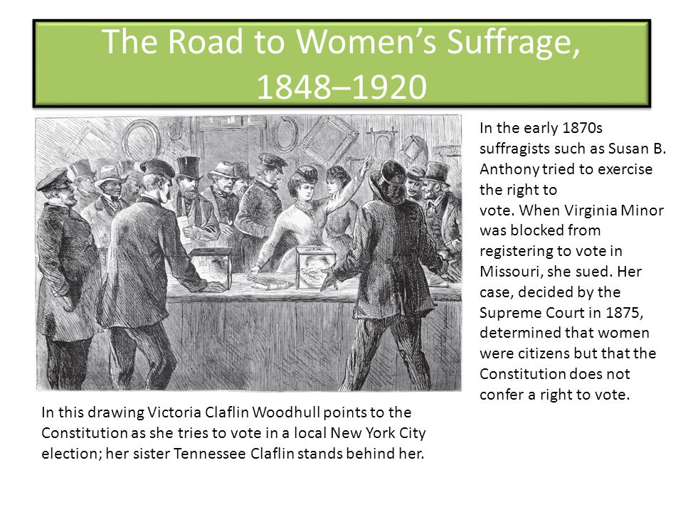The Road to Women's Suffrage, 1848–1920