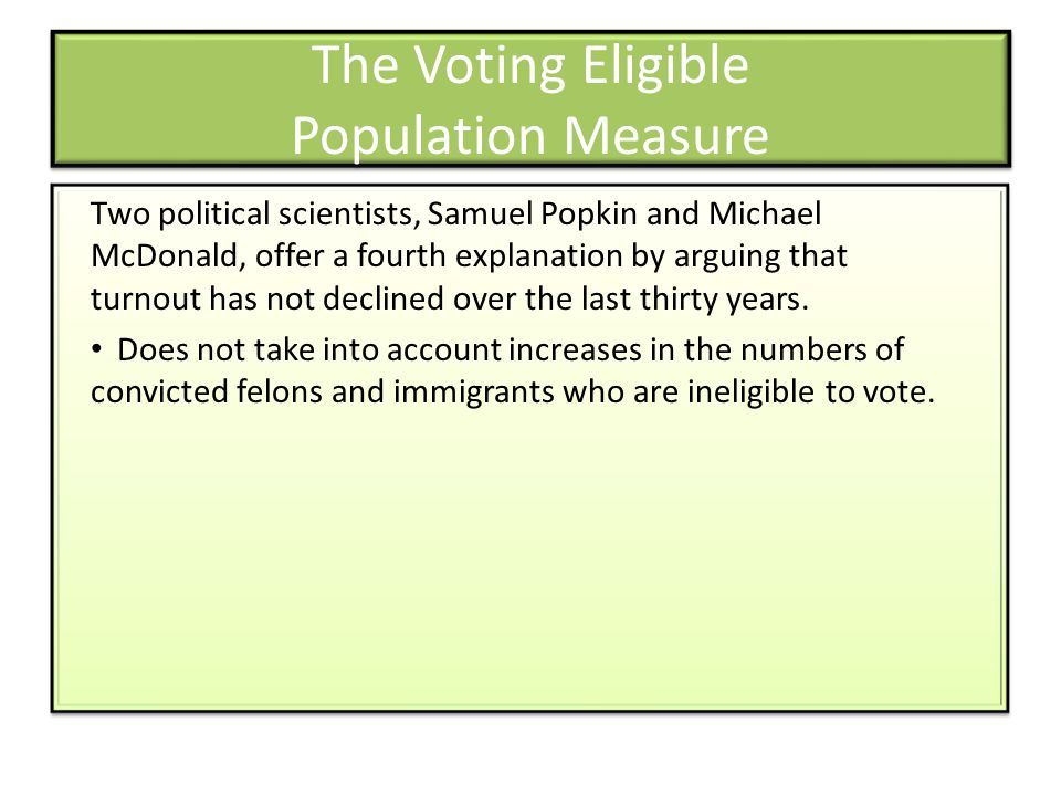 The Voting Eligible Population Measure