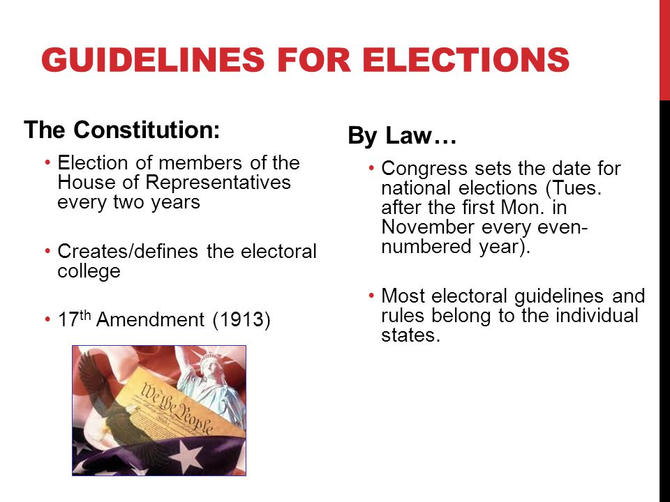 Guidelines for Elections