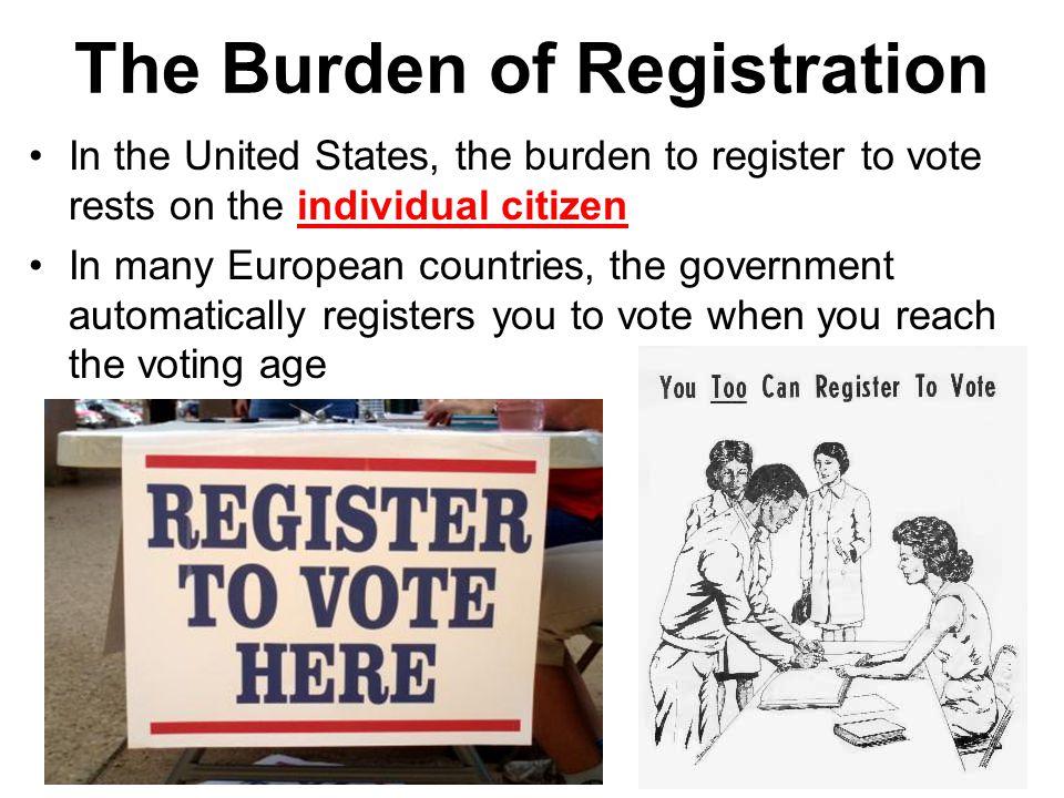 The Burden of Registration
