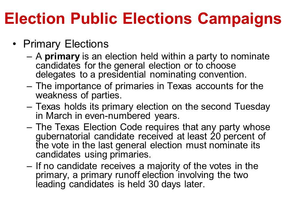 Election Public Elections Campaigns