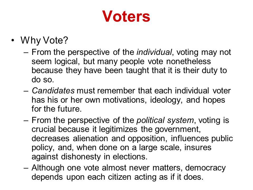 Voters Why Vote