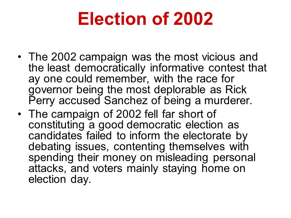 Election of 2002