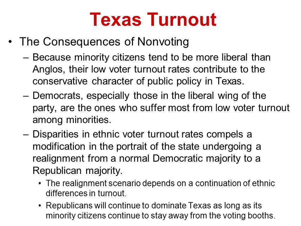 Texas Turnout The Consequences of Nonvoting