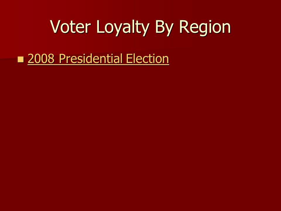 Voter Loyalty By Region