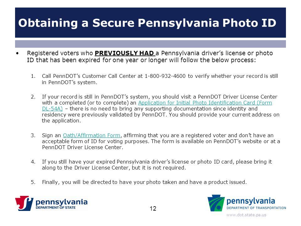 Obtaining a Secure Pennsylvania Photo ID