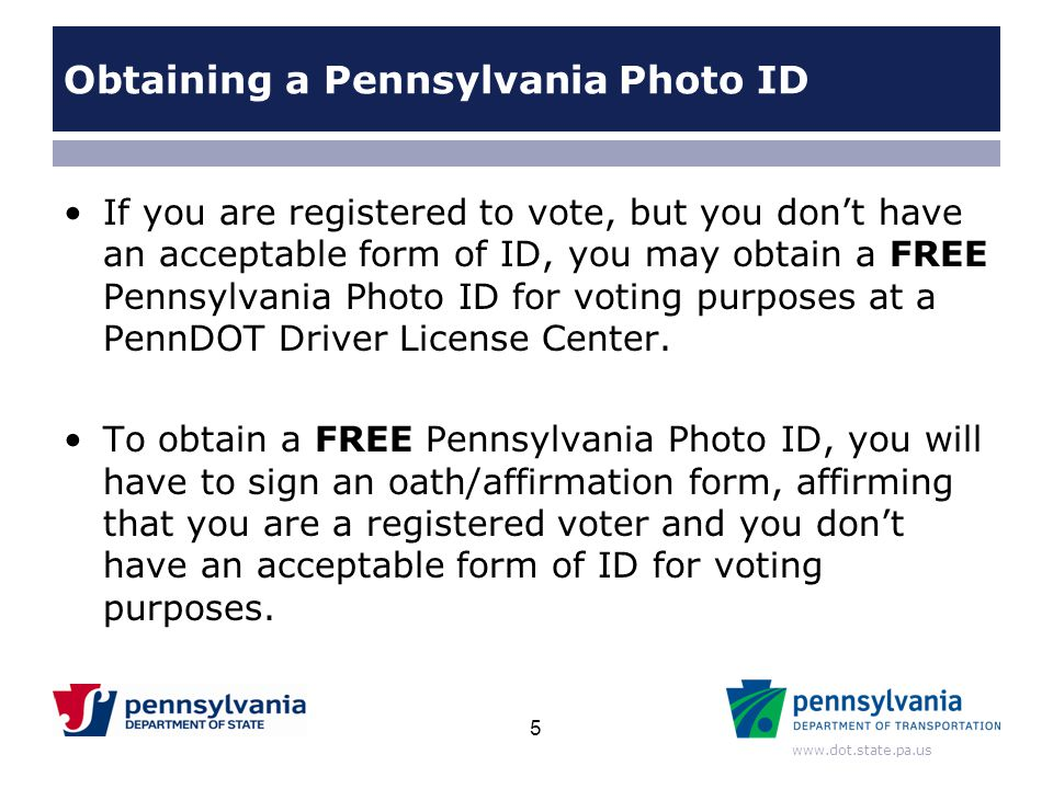 Obtaining a Pennsylvania Photo ID